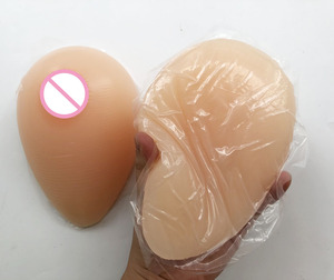 Image 2 - 800 グラム/ペア自己粘着性または無自己 Adhes タイプつけ胸セクシーな自己粘着人工胸ドラッグクイーン女装ブラジャー