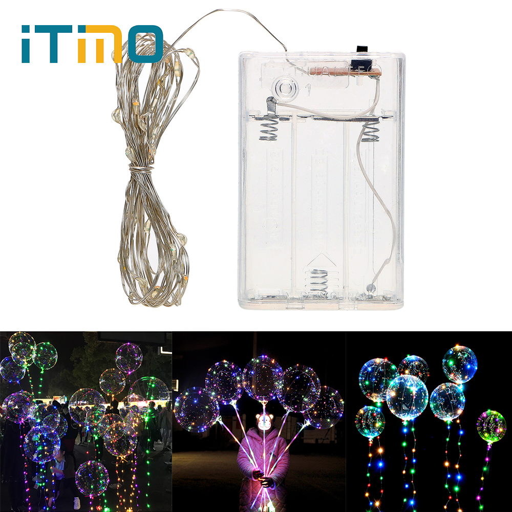 ITimo Fairy Lights LED String PVC Grow Ball Light Home Party Decoration Transparent Helium Light Ball 18 Inch