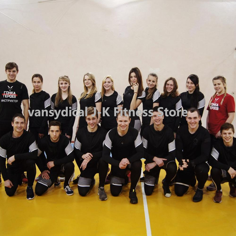Vansydical 2019 Palestra Set per running di Forma Fisica degli uomini di Compressione Calzamaglie Sportswear Elastico Formazione Vestiti di Sport Tute Da Jogging 5pcs - 4