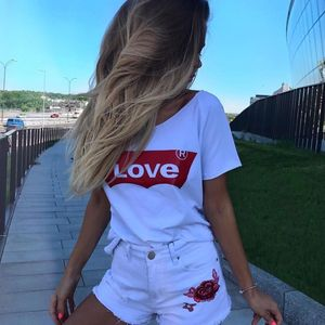 Amour T-Shirt Casual Cotton Re