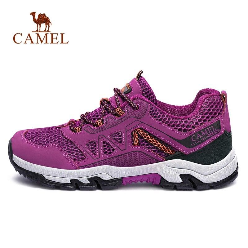 CHAMEAU Femmes En Plein Air chaussures de randonnée respirantes Maille Non-glisser Durable Anti-impact Voyage Randonnée Trekking chaussures de trail
