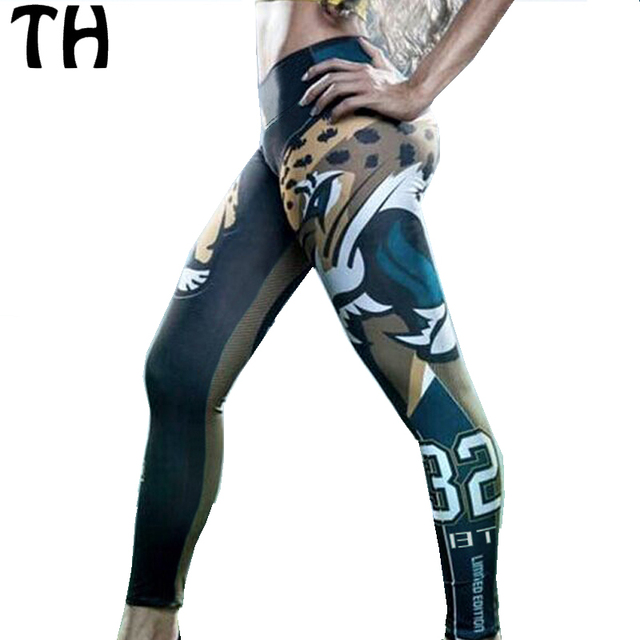 2016 Abstract Leopard Print Women Compression Pant Breathable Thin Workout Fitness Leggings Women #160369