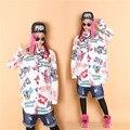 Богатые каракули хип-хоп бульдог низкий высокий свободный футболки HARAJUKU хип-хоп уличный стиль