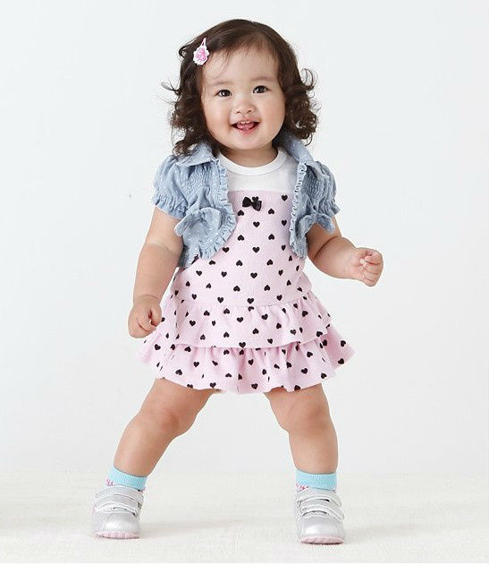 2f6685156 Summer 2018 New Baby Girls Clothes Suit Cute Sleeveless Cake Dress+ ...