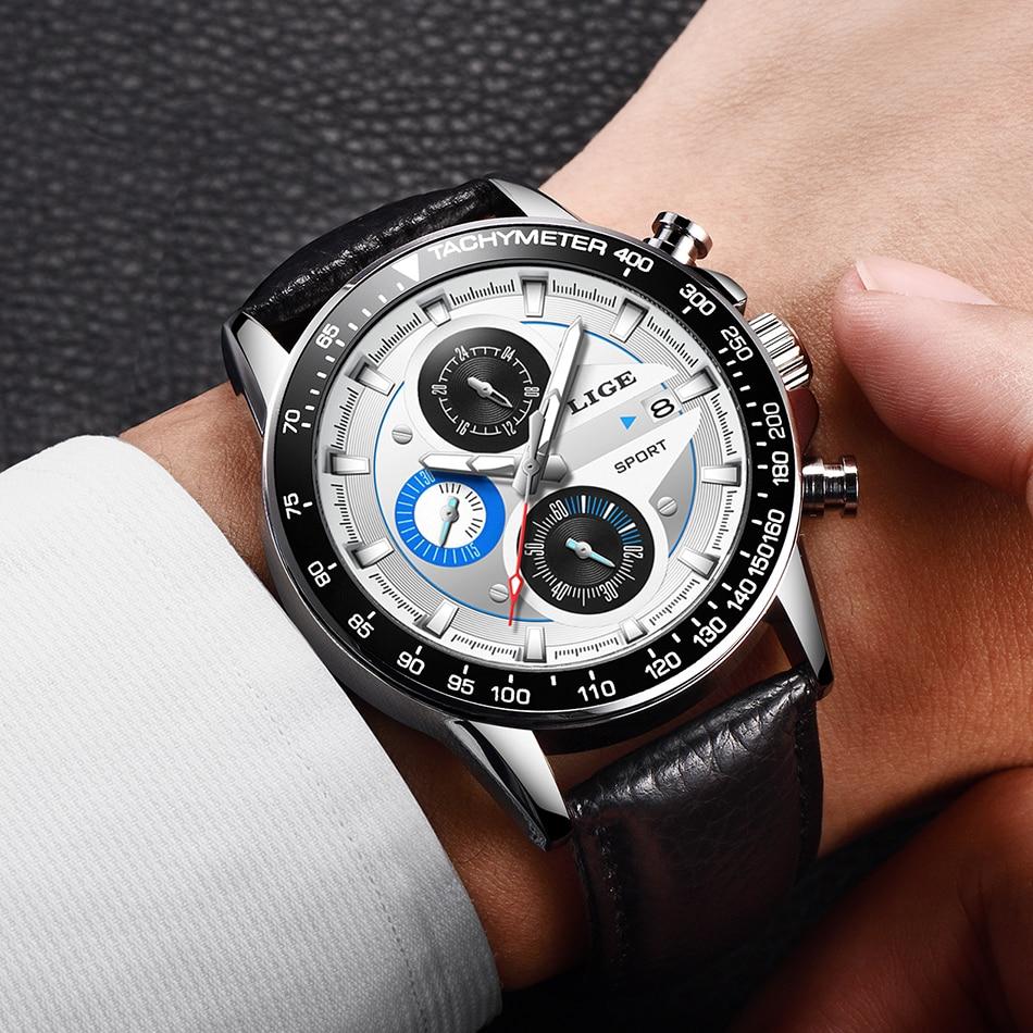 HTB1KIr6MNjaK1RjSZFAq6zdLFXat LIGE Fashion Men Watches Male Creative Business Chronograph Quartz Clock Stainless Steel Waterproof Watch Men Relogio Masculino