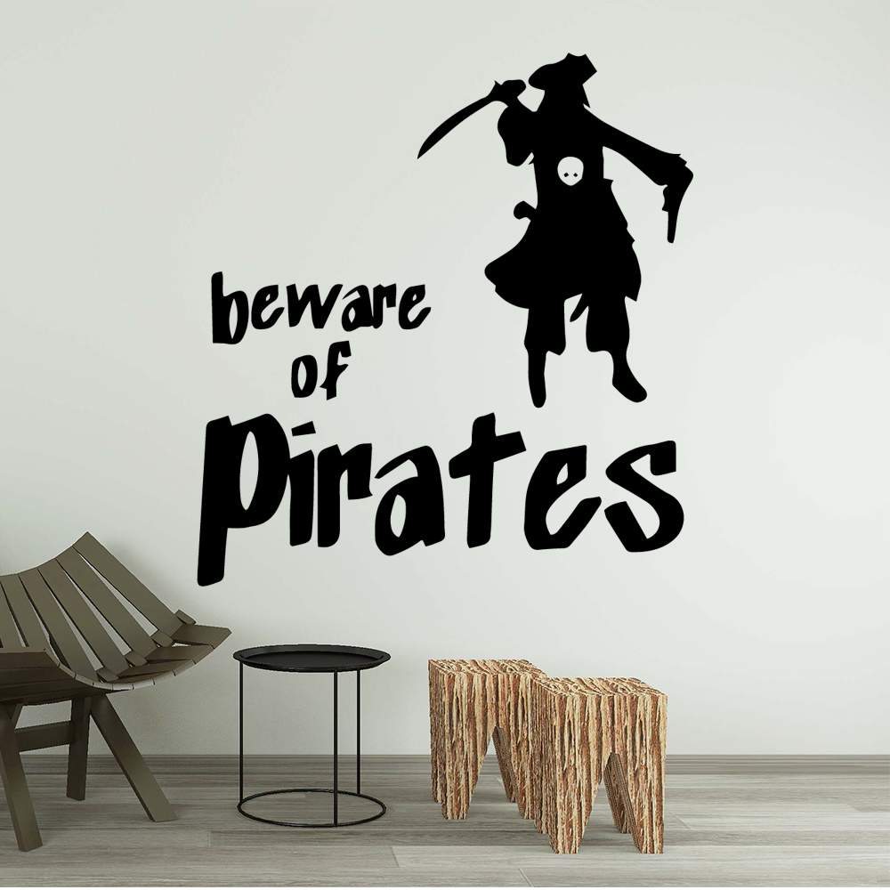 Family Pirates of the Caribbean Vinyl Decals Wall Stickers Waterproof Home Decoration Wallpaper LW87