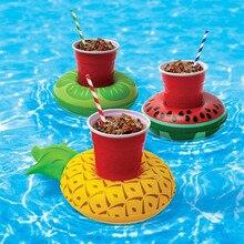 Надувные напиток подстаканник пончики Фламинго арбуз ПВХ Плавание надувной коврик для бассейна коврики плавающий бассейн игрушечные лошадки