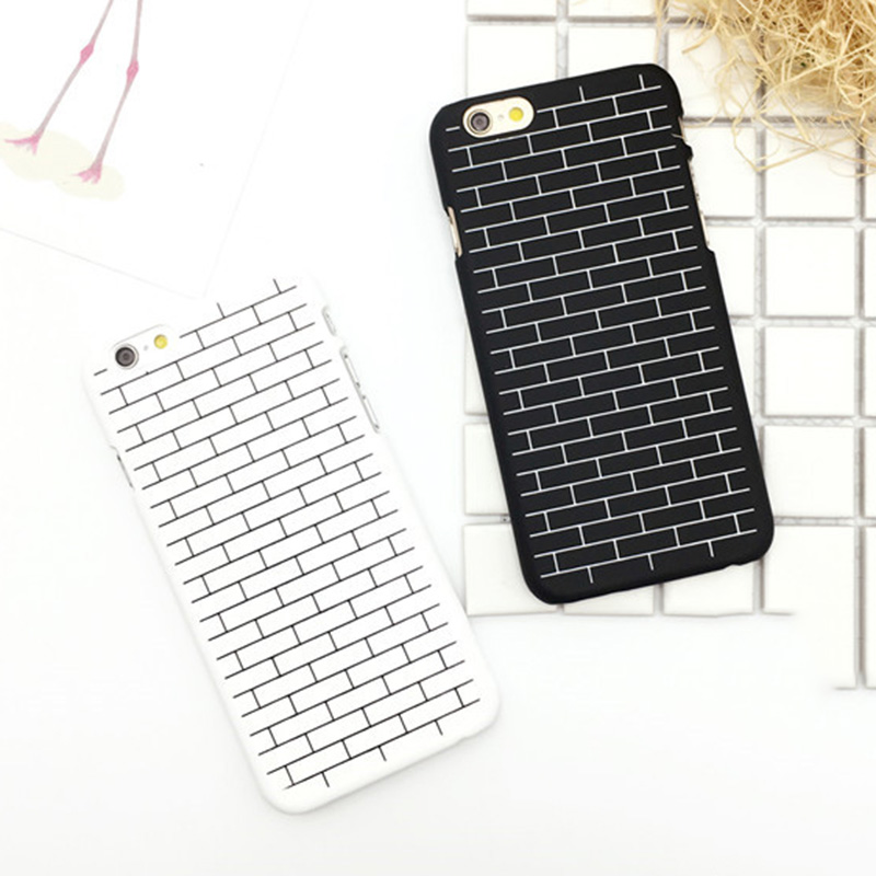 The Wall Brick Print Dull Polish Hard PC Back Cover Mobile Phone Case For iPhone 5S 6 6S Plus Phone Protector YC1879