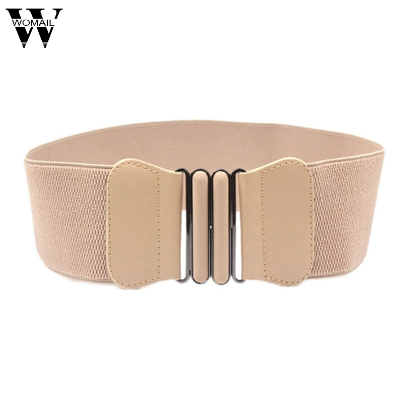 Amazing Fashion Lady Bowknot Stretch Elastic Wide   Belt   Elastic Waistband for Dress Adornment
