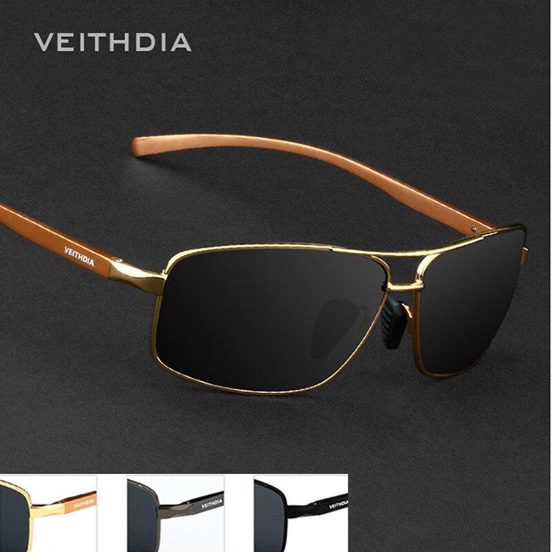 VEITHDIA Aluminum Magnesium Brand New Polarized Men's Sunglasses 3 Color Sun Glasses Men Driving Goggle Eyewear Accessories 2458