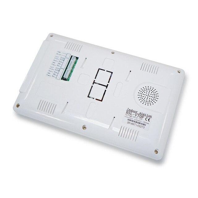 Système dinterphone vidéo de 7 pouces   Pour 5 appartements, écran TFT LCD 5 écran dintérieur plat, avec vision nocturne, caméra dextérieur cmos