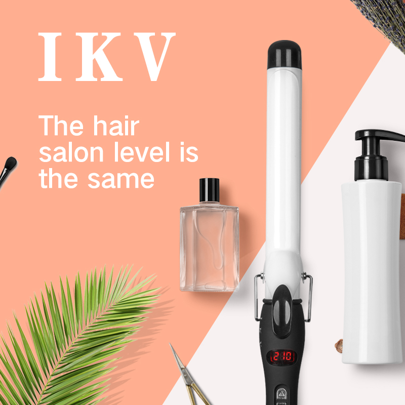 Купить с кэшбэком IKV New Arrival professional curling iron  Curling Wand Hair waver Pear Flower Cone ceramic hair electric curlers rollers