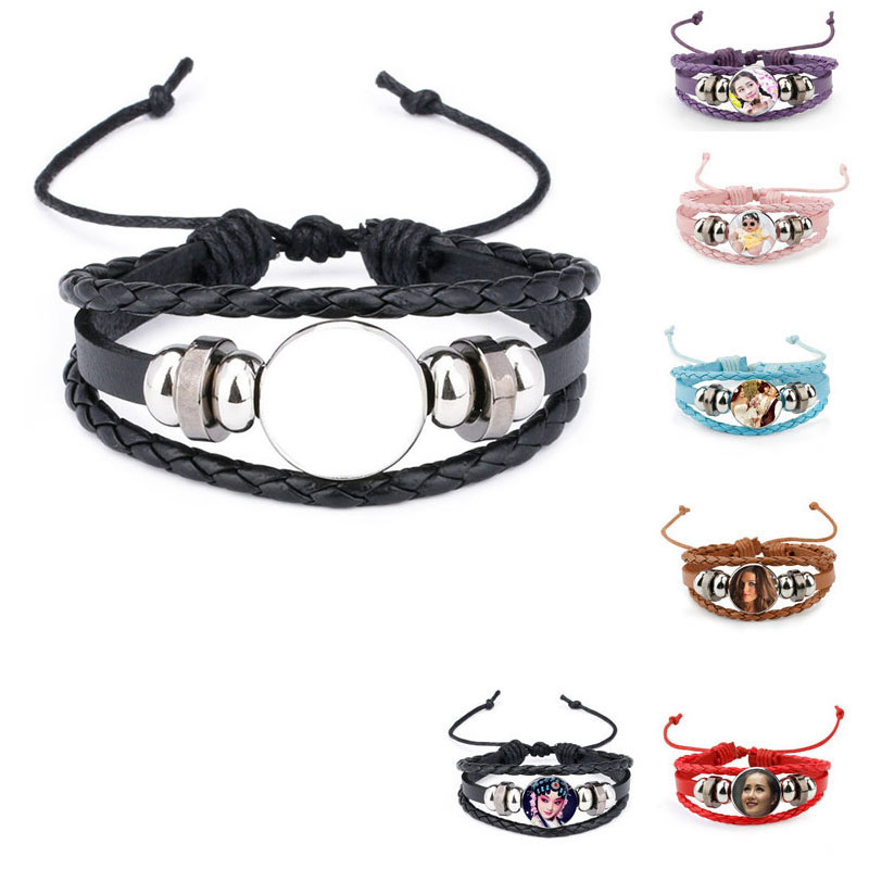 knitted bracelets for sublimation fashion bracelet for thermal transfer printing custom jewelry wholesale 2018 style 100pcs