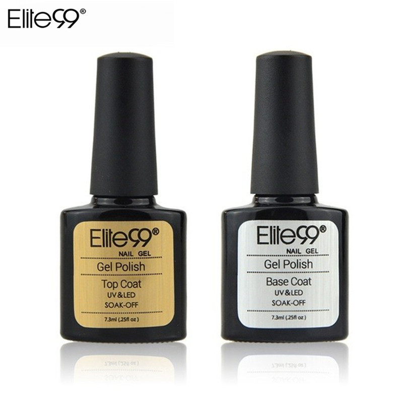 Elite99 7.3ML Base Top Coat  UV Gel Nail Polish 10ml Soak Off Long Lasting Primer Lacquer Nail Manicure Vernis Semi Permanent-in Nail Gel from Beauty & Health