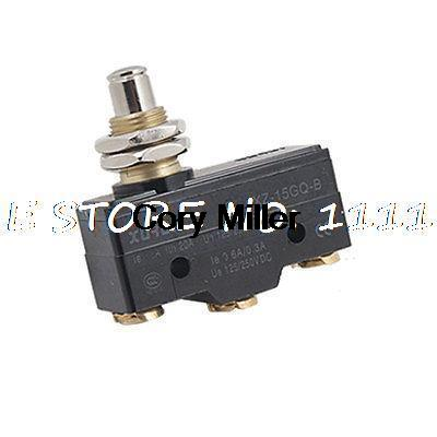XZ-15GQ-B 3 Screw Terminals Push Plunger Actuator Micro Basic Limit Switch 660v ui 10a ith 8 terminals rotary cam universal changeover combination switch