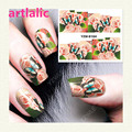 1 sheet Water Transfer Nail Art Sticker Decal Butterfly and Flowers 3D Print Manicure Tips DIY Nail Foils Decorations 8164