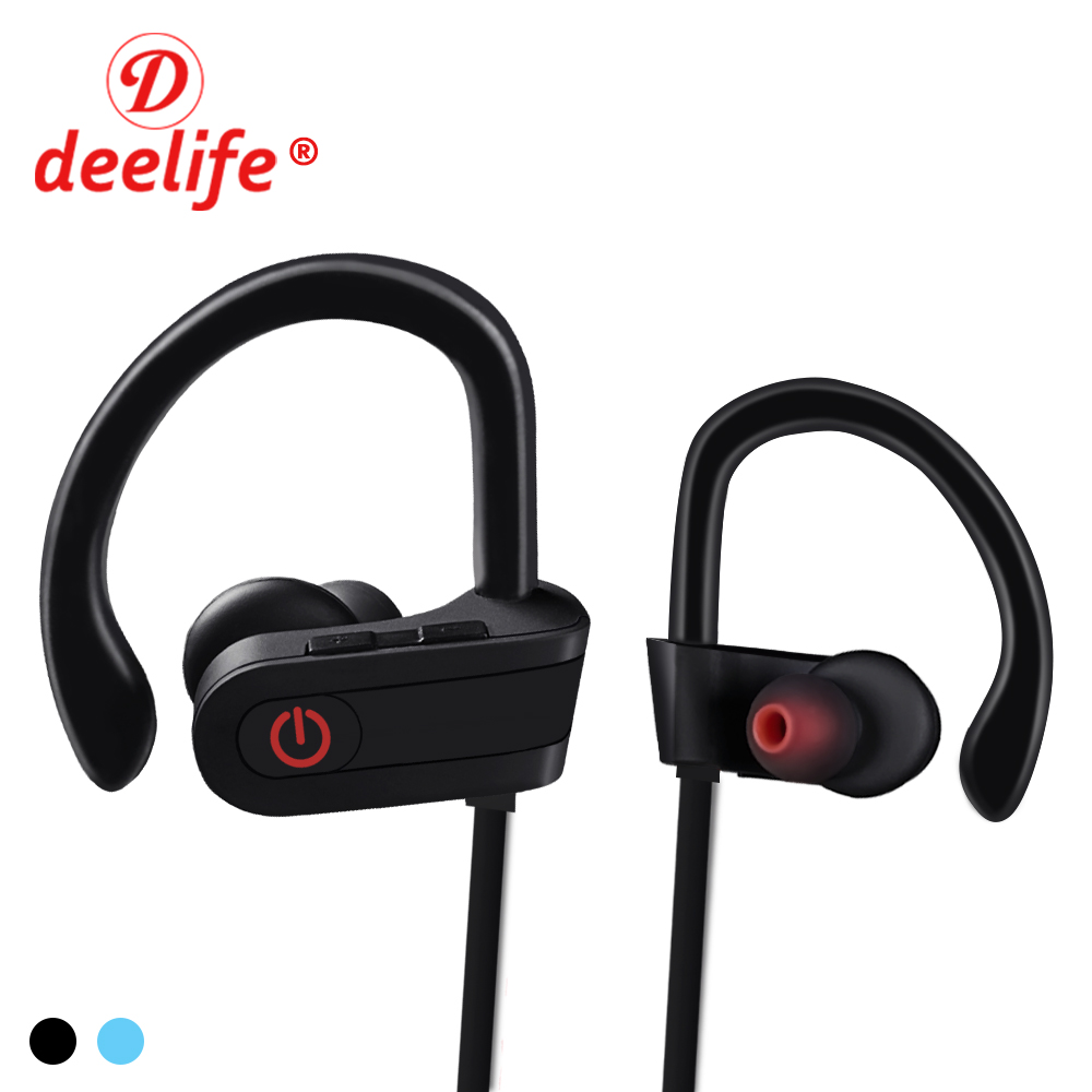 Deelife Headphones Bluetooth Earphone Wireless Sport Headphone Waterproof Headset Bass In Ear Earbuds with Microphone for Phone