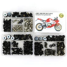 For Honda CBR1000RR CBR 1000RR 2017 2018 2019 Motorcycle Full Fairing Bolts Kit Steel OEM Style Clips Nuts цена