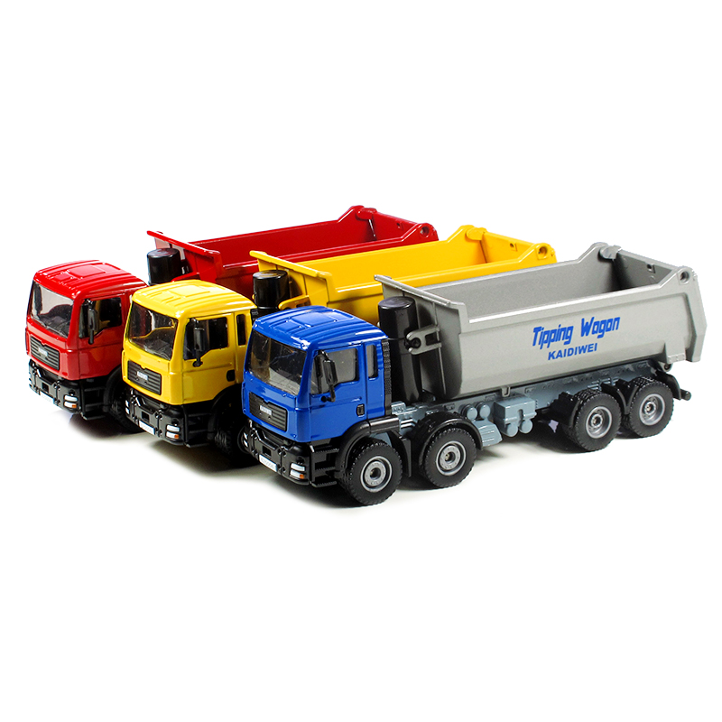 KAIDIWEI Alloy engineering car model toy all alloy 1:50 dump truck eight wheel truck toy model kid toys gift