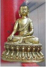 """12 """"de bronce gild budismo equisite arabesquitic Sakyamuni Buda (D0426) artesanía Artes de halloween Decoración de Latón"""