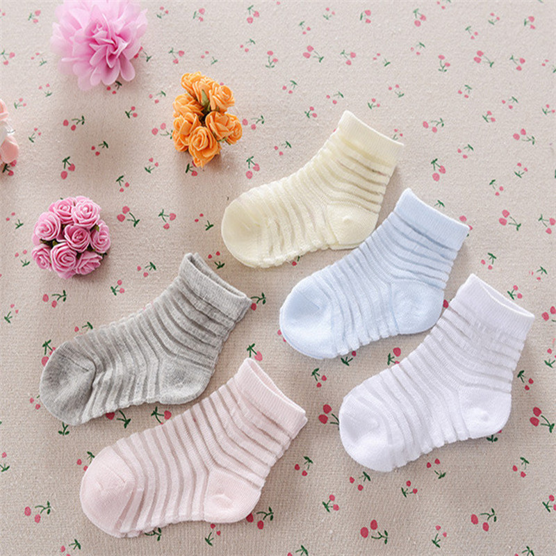 3pairs/lot Sale 2016 Summer New Ultra-thin Solid Color Stripe Hose Models Of Child Mesh Socks, Thin Socks For Girls A-cll-033-3