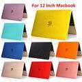 Envío gratis 2015 de apple nueva Retina macbook air 12 pulgadas moda pure Color protector del caso de shell notbook Flip caja del ordenador portátil