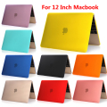 Free Shipping For 2015 apple new Retina macbook air 12 inch Fashion pure Color Protective shell case notbook Flip laptop case