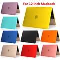 Para Retina macbook air 12 de polegada pure Color shell de proteção para laptop tampa notbook