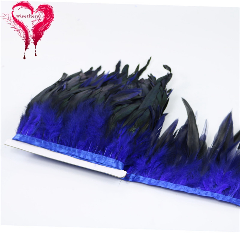 5 blue rooster feather trims 4