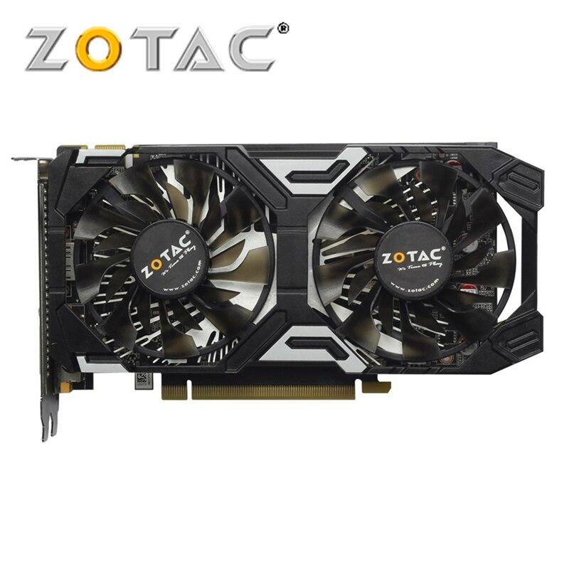 Cartes graphiques d'origine GeForce GTX 950 2 GB ZOTAC 128Bit GDDR5 pour carte nVIDIA GTX950 Thunder Edition GTX 950-2GD5