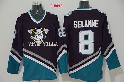 Men Selanne Jersey Mighty Ducks Jersey Movie Stitched Throwback Ice Hockey Jerseys S-3XL Free Shipping hockey jersey custom any name any number high quality stitched logos men throwback ice hockey jersey s 4xl free shipping