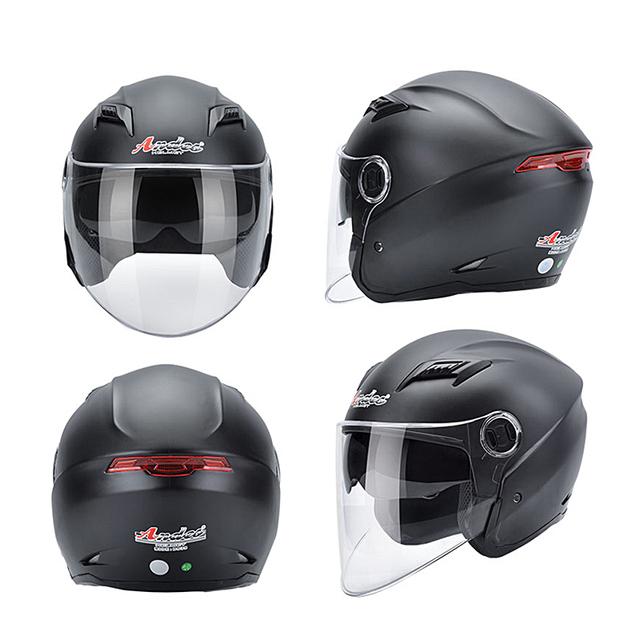 Andes Motorcycle Helmet Unisex Scooter Motocross Helmet Summer Windproof UV Protection Flip Up 2 Visors Moto Helmet Casco