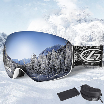 Fog-proof Ski Goggles for Myope Anti-snow Double REVO Coated Lens Protector UV Windproof  Skiing Goggles with Adjustable Band revo band page 7