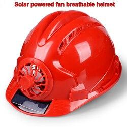 FX058 wentylator słoneczny przyłbica spawalnicza słonecznej energii moc wentylatora wyciąć z powrotem ciepła fajne kask ABS z tworzywa sztucznego Anti-shock zapobiegania powodziom kask