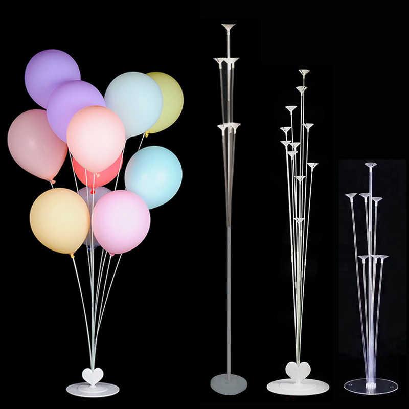 誕生日パーティー風船スタンドバルーンホルダー列プラスチックバルーンスティック誕生日パーティーの装飾大人の結婚式の風船