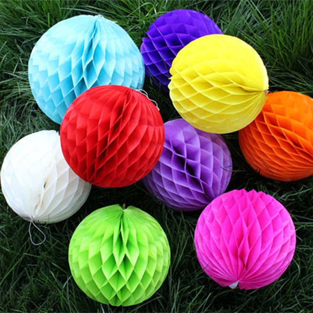 "Small Decorative Balls Extraordinary 2""5Cm Small Decorative Tissue Paper Honeycomb Balls Assorted Decorating Design"