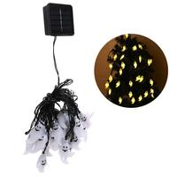 30 LED Waterproof Cute Ghost Solar String Lights Solar Powered Lighting For Halloween Party Indoor Outdoor