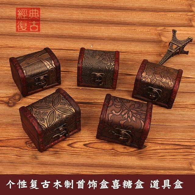 Zakka Vintage Jewelry Box Jewellery Organizer Storage Case Mini
