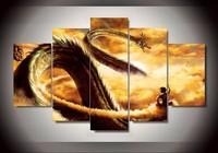 5 Pcs Dragon Ball Animated Cartoon Characters Home Children S Room Wall Decor Canvas Picture HD