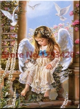 5D Diamond Painting Cross Stitch Religion Angel Diamond Embroidery Square Drill Full Diy Diamond Mosaic Home Decoration q series melsec qy40p output module plc module qy40p new in box free shipping