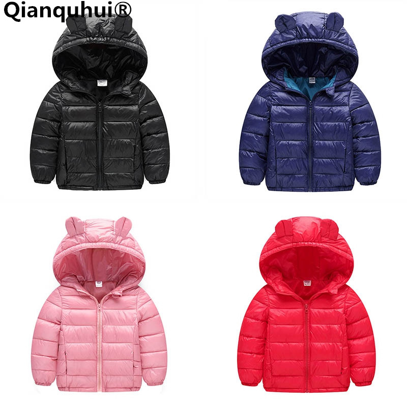 Qianquhui 2017 New Baby Girls Boys Clothes Coats Infant Toddler Winter Keep Warm Down Jacket Polyester Cotton Outwears Coat new winter boy girls down jacket outerwear children brand down coats cotton good quality baby kids warm clothes for boys