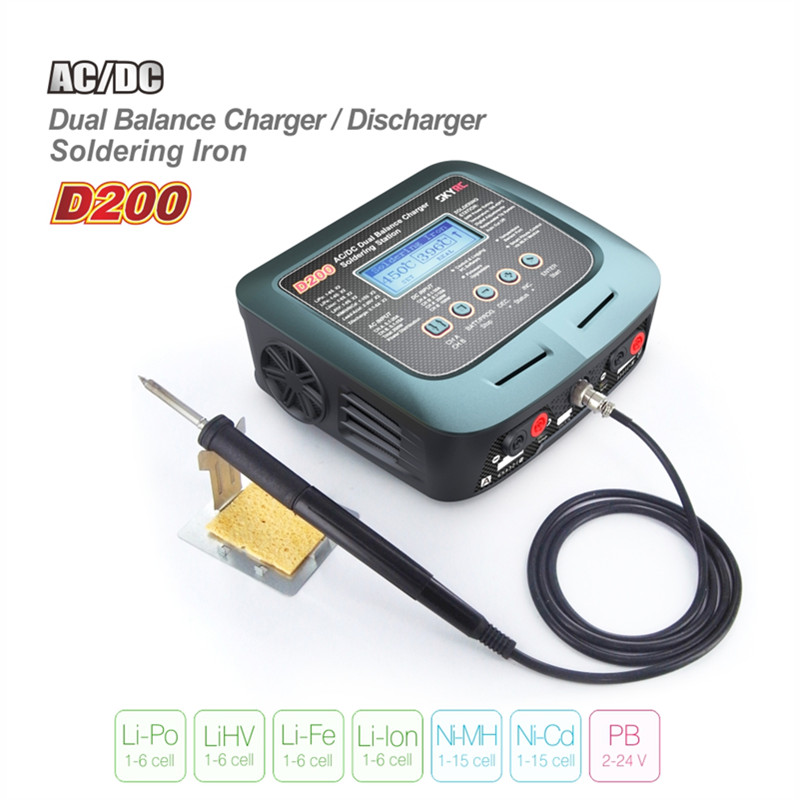 все цены на Tarot-RC SkyRC D200 200W*2 AC/DC Dual Balance Charger 20A Charge 5A Discharge NiMH/LiPo Battery Twin Channel Charger with Solder онлайн