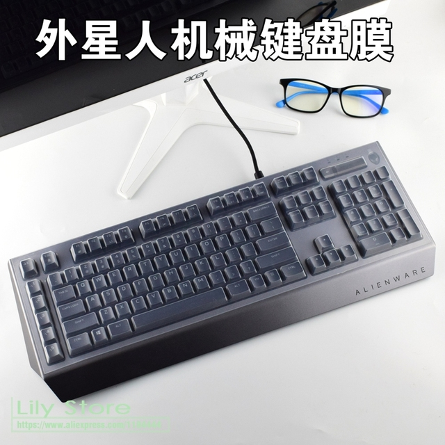 67929366a11 For Alienware Advanced Pro Gaming Keyboard AW568 AW768 protector skin film  game office desktop keyboard anti dust cover. Price:
