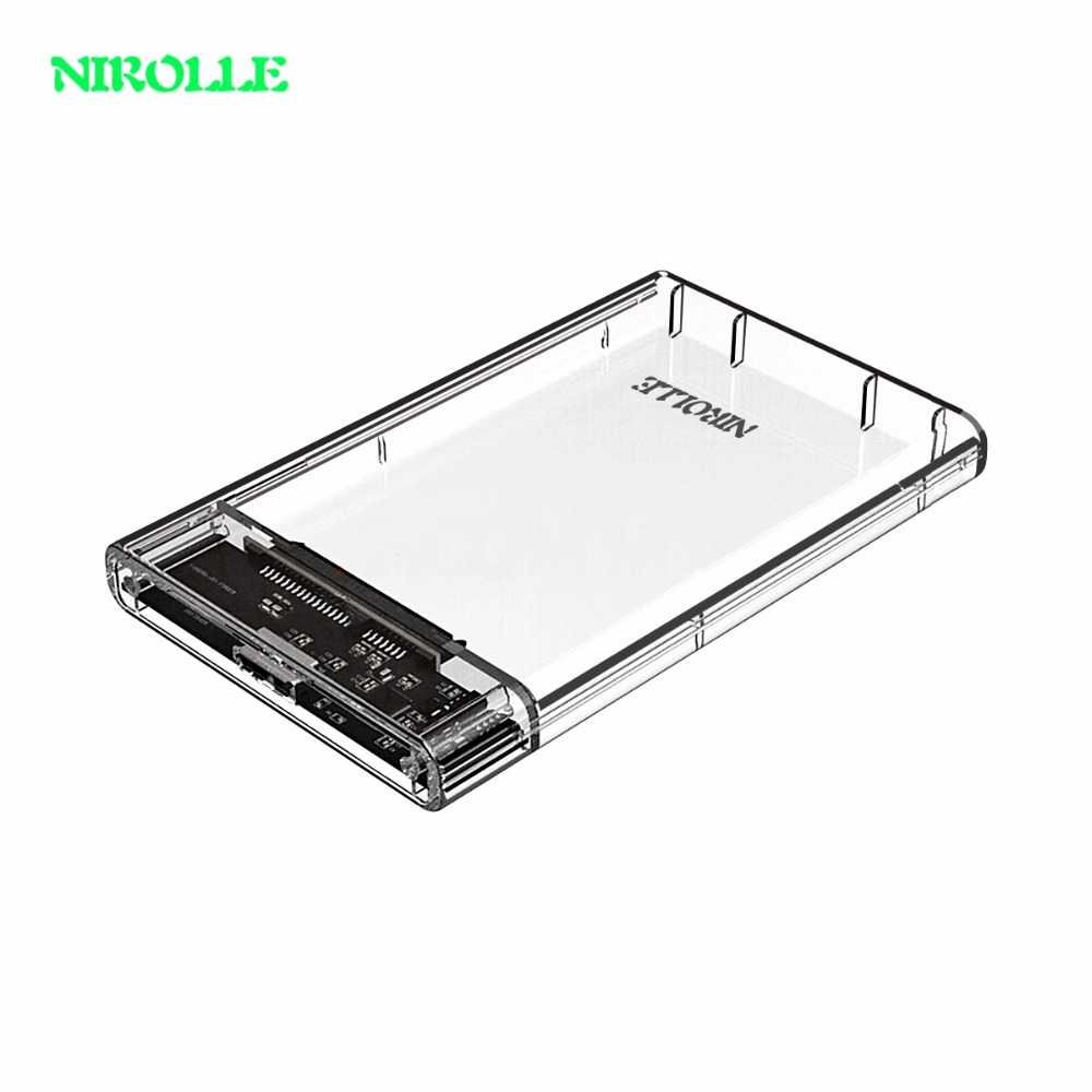 NIPOLLE HDD Enclosure 2.5 inch SATA to USB 3.0 SSD Adapter Hard Disk Drive Box for Samsung Seagate SSD 1TB 2TB External HDD Case