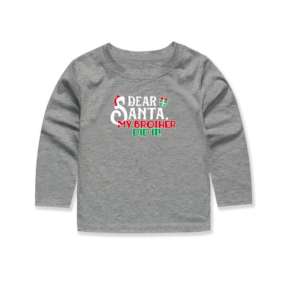 Santa Claus Children Fashion T Shirts Children Full Sleeve Christmas ...