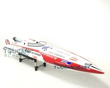 49″ Deep Vee Fiber Glass Gas RC Boat KIT DT125 Pre-painted Bare Hull Only 70Km/h Monohull RC Boat