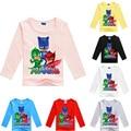 2-10Y Newest Cartoon Masks Children T Shirts Shirts Boys PJ Summer Girls Tops Long Sleeve Shirt Cotton T-Shirt Boys Baby Clothes
