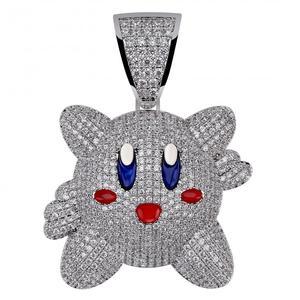 Image 5 - Ожерелье с подвеской 3D Kirby для мужчин и женщин, украшение в стиле хип хоп с теннисной цепью, цвет под золото, драгоценности в подарок