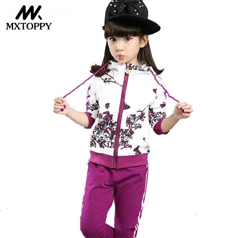 Autumn Girl Clothing Set Floral Kids Hoodies+Pants Kid Tracksuit For Girl children's Costume Sport Suit Children Clothes autumn girls clothing sets costume for kids tracksuit girl sport suit children for teenagers clothes tops pants two pieces