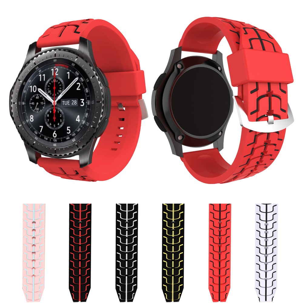 UEBN Sports Silicone Fish bone texture Band for samsung gear S3 Frontier Classic Replace Bracelet Strap